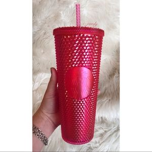 NEW Starbucks Neon Pink Studded Tumbler